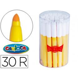 Rotulador carioca jumbo c30 amarillo punta gruesa bote de 30 unidades