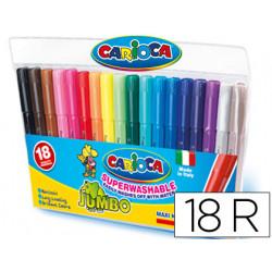 Rotulador carioca jumbo c/18 colores punta gruesa