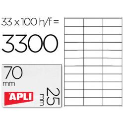 Etiqueta adhesiva apli 1270 tamaño 70x25 mm fotocopiadora laser inkjet