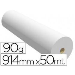 Papel reprografia para plotter 914mmx50mt 90gr impresion inkjet