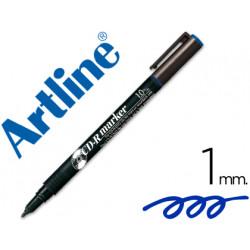 Rotulador artline para cd punta de fibra permanente ek884 azul punta redo