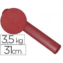 Papel fantasia kraft liso kfc bobina 31 cm 35 kg color burdeos
