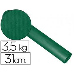 Papel fantasia kraft liso kfc bobina 31 cm 35 kg color verde