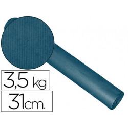 Papel fantasia kraft liso kfc bobina 31 cm 35 kg color cobalto