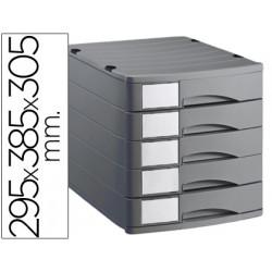 Fichero cajones de sobremesa offisys 1070 295x385x305cm5 cajones gris