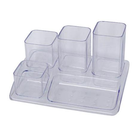 Organizador sobremesa plastico offisys 1033 18x12x10 cm 5 departamentos t