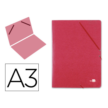Carpeta planos liderpapel a3 carton gofrado n 12 rojo