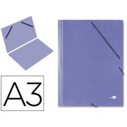 Carpeta planos liderpapel a3 carton gofrado n 12 azul