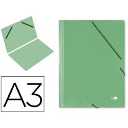 Carpeta planos liderpapel a3 carton gofrado n 12 verde