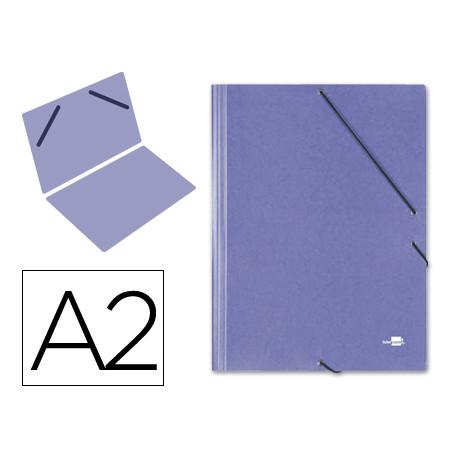 Carpeta planos liderpapel a2 carton gofrado n 12 azul