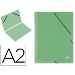 Carpeta planos liderpapel a2 carton gofrado n 12 verde