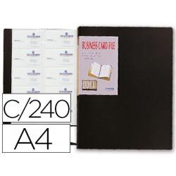 Carpeta beautone clasificador de tarjetas polipropileno din a4 para 240 tar