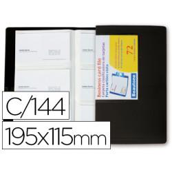 Carpeta beautone clasificador de tarjetas polipropileno 115x190 mm para 144