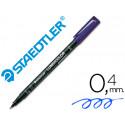 Rotulador lumocolor retroproyeccion punta de fibrapermanente 3133 azul pun