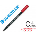 Rotulador lumocolor retroproyeccion punta de fibrapermanente 3132 rojo pun