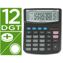 Calculadora citizen sobremesa ex870 12 digitos doble pantalla con tecla de
