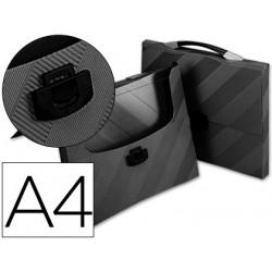 Carpeta beautone portadocumentos broche 34606 polipropileno din a4 negro c