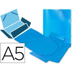 Carpeta liderpapel gomas solapas 34972 polipropileno din a5 azul