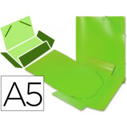 Carpeta liderpapel gomas solapas 34973 polipropileno din a5 verde