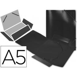 Carpeta liderpapel gomas solapas 34975 polipropileno din a5 negra