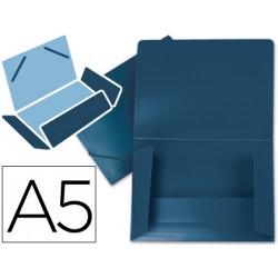 Carpeta liderpapel gomas solapas 34942 polipropileno din a5 azul opaco