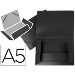 Carpeta liderpapel gomas solapas 34945 polipropileno din a5 negra opaco