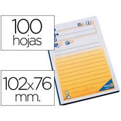Bloc de notas adhesivas quita y pon postit 102x76 mm telefonico 7694