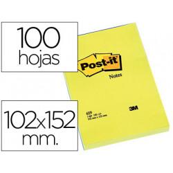 Bloc de notas adhesivas quita y pon postit 102x152 mm con 100 hojas 659