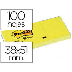 Bloc de notas adhesivas quita y pon postit 38x51 mm papel reciclado amaril