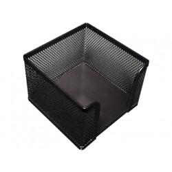 Soporte taco de papel qconnect metalico rejilla negro 95x95x80 mm