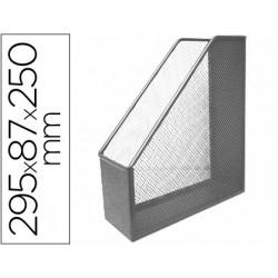 Revistero metalico qconnect rejilla gxa29 gris 87x295x250 mm