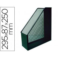 Revistero metalico qconnect rejilla gxa29 negro 87x295x250mm