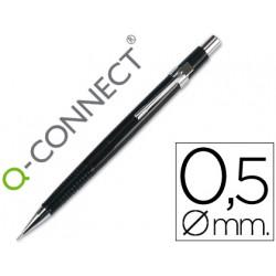 Portaminas qconnect 05 mm con tres minas cuerpo negro clip metalico