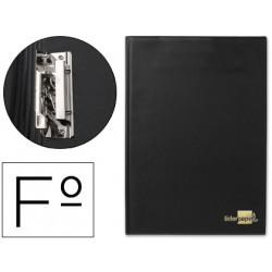 Carpeta liderpapel miniclip lateral folio plastico negro