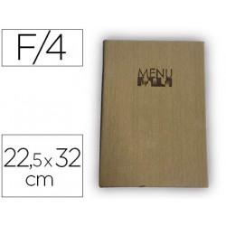 Porta menus liderpapel pu 225 x 32 cm con 4 fundas