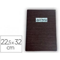 Porta menus liderpapel pu 225 x 32 cm con sujeccion en esquinas para 2 hoj