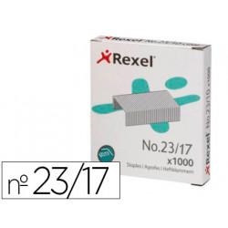 Grapas rexel 23/17 acero caja 1000 unidades