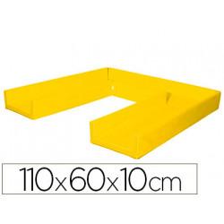Colchon de dormir sumo didactic plegable 110x60x10 cm amarillo