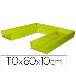 Colchon de dormir sumo didactic plegable 110x60x10 cm pistacho