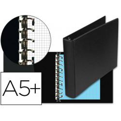 Carpeta multifin alfa 3002m 11 anillas 25 mm plastico cuarto negro