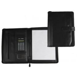 Carpeta portafolios 35857ne negra 350x260 mm con cremallera con calculado