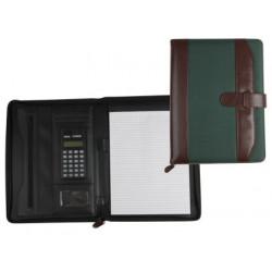 Carpeta portafolios 35857mv marron/verde 350x260 mm con cremallera con ca