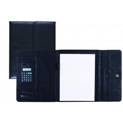 Carpeta portafolios 80837 negra 315x245 mm con broche con calculadora con