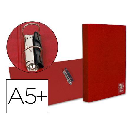 Carpeta liderpapel 2 anillas 25 mm plastico cuarto roja