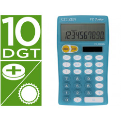 Calculadora citizen bolsillo fc100 10 digitos celeste junior pedagogica