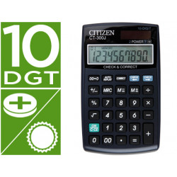 Calculadora citizen bolsillo ct300j 10 digitos