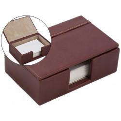 Soporte tarjeta de visitas fabricado en madera y forrado en polipiel 112x7