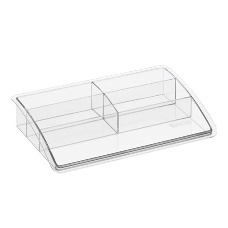 Organizador sobremesa plastico offisys timeless transparente 198x128x37 mm