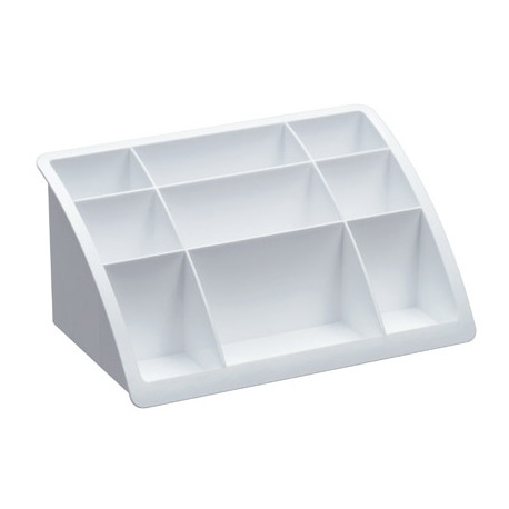 Organizador sobremesa plastico offisys timeless blanco 198x128x93 mm