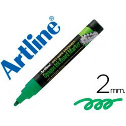 Rotulador artline pizarra verde negra epw4 vegr color verde fluorescente